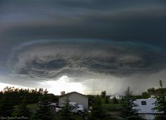 Storm over north dakota