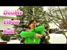 ▶ Double Elbow Roll - Novice Baton Twirling - How to Twirl a Baton - Baton Twirling Tutorial - YouTube