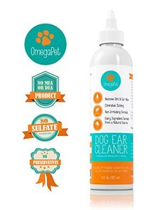 #1 Ear Cleaner for Dogs ● Alcohol Free Dog Ear Mites Treatment By OmegaPet Is A 100% All Natural and USA Made Dog Ear Cleaner Solution ● Chemical Free Dog Ear Mites Cleanser Gently Cleans Dirt/Ear Wax and Eliminates Odors, the Perfect Ear Mite Treatment ● Specially Priced Limited Supply 8 oz Size - http://satehut.com/1-ear-cleaner-for-dogs-%e2%97%8f-alcohol-free-dog-ear-mites-treatment-by-omegapet-is-a-100-all-natural-and-usa-made-dog-ear-cleaner-solution-%e2%97%8f-chem