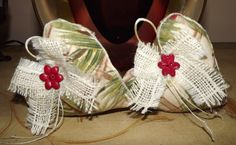 Country Holiday Heart Christmas Ornaments Set 2.
