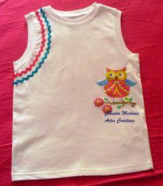 T'shirt de algodão com aplicação de tecidos e fitas tshirt de, de tecido, de algodão, aplicação de, art decorativa