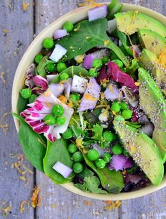 Sweet pea avocado salad