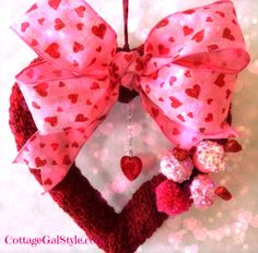 Crocheted Valentine Heart - Cottage Gal Style
