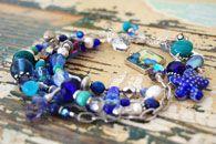 Liz Kalloch pendant jewelry, art studios, long necklac, stack bracelet, precious stone, pendant jewelri, art pendant, wrap bracelet, origin art