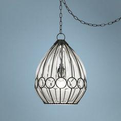 "Centinela Drop 10 1/2"" Wide Glass Plug-In Swag Pendant - #W9249 | LampsPlus.com"