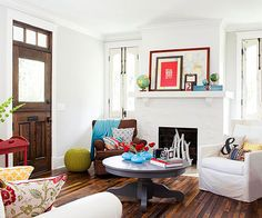 Charming cottage style living room: Old Meets New