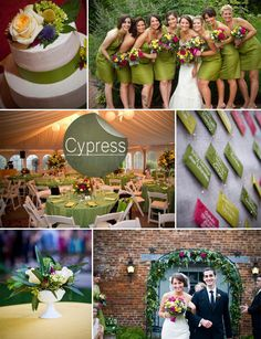 cypress green and pink red fall wedding color ideas 2014 trends