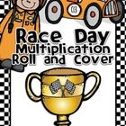 Race Day Multiplication Roll and Cover.  {Freebie}