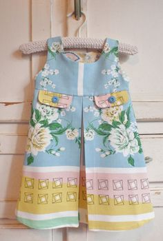 Upcycled Vintage 50's Girl Toddler Dress Pleated by apieceofpie, $56.00