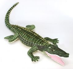 Plush Giant Green Alligator at theBIGzoo.com, an animal-themed superstore.