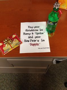 Cute idea for a neighbor, teacher, Secret Santa gift (idea stolen from a friend ~ thanx)