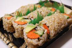Vegan Sushi with brown rice.