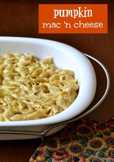 Pumpkin Macaroni and Cheese   Real Food Real Deals #healthy #recipe