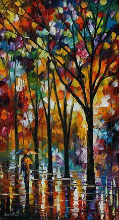 """The Spectrum Of The Rain"" Fine Art Print - Leonid Afremov <---LOVE this piece!"