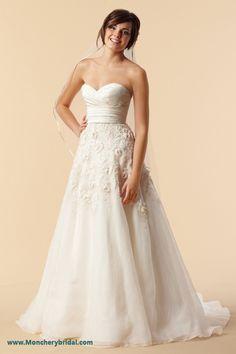 rosette wedding gown