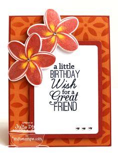 Birthday Greetings; Tropical Sensations; Tropical Sensations Die-namics; Blueprints 5 Die-namics; Petal Pattern Stencil - Julie Dinn