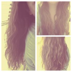 How To: Mermaid Waves--use a t-shirt to scrunch hair & no frizzy hair!