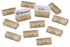 cute cork placecards