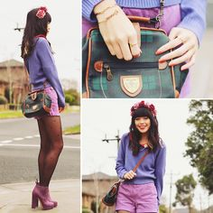 Shades of purple (by KANI (Connie) Cao) http://lookbook.nu/look/3698921-shades-of-purple