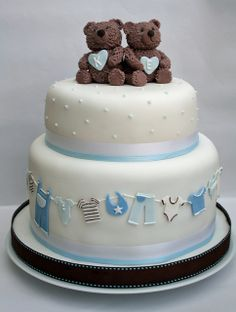 Twin baby shower cake by The Cake Boutique, via Flickr
