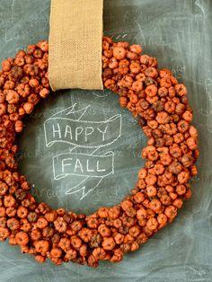"Mini ""Pumpkin"" Wreath - Our 50 Favorite Halloween Decorating Ideas on HGTV"