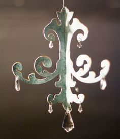 paper chandelier ornament.  enlarge the template for a room size chandelier.