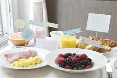Notes and Memories on a stick with breakfast