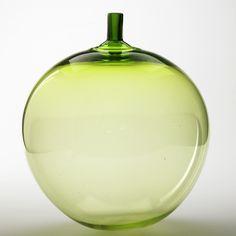 Ingeborg Lundin; Glass 'Apple' Vase for Orrefors, 1957.