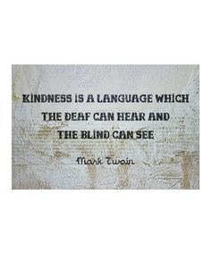 Loving this 'Kindness Is a Language' Art Print on #zulily! #zulilyfinds