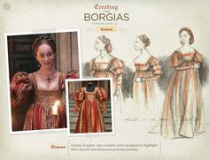 Gowns of upper class women were designed to highlight their bosom and showcase precious jewelry.