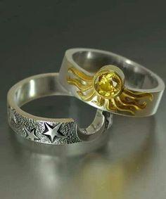 games, sun moon, weddings, stars, stacking rings, wedding rings, jewelri, game of thrones, engagement rings