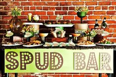Baked potato bar - I LOVE THIS IDEA!!!     The Fun Cheap or Free Queen: TV Segment: Feeding a crowd on the cheap. Party food ideas, food shopping tips, must-have tools, and more!