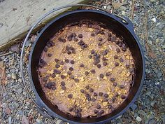 dutch oven redneck finger cake