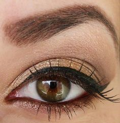 Brown make-up LOVE THIS Classic chic clean.