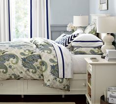 Brighten the guest room with pops of color.