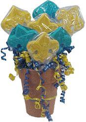 Blue & Gold Banquet Centerpiece Idea