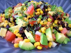 Avocado and Black Bean Salad. Photo by Annacia