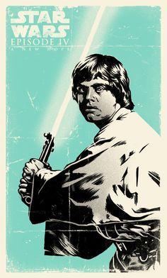 Star Wars - Luke Skywalker by Daniel Hatcher