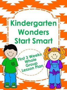 Kindergarten Wonders Start Smart Lesson Plans $