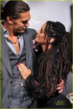 In love.....Jason Momoa & Lisa Bonet
