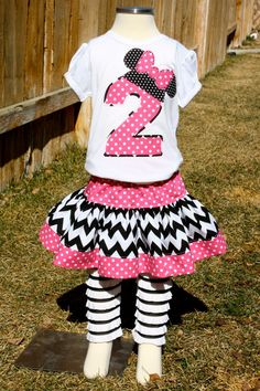 Minnie Mouse Shirt and Skirt by sherunslikeagirl on Etsy, $52.00