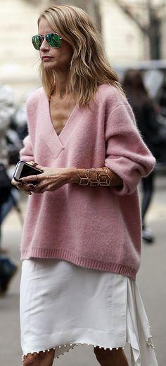 Cozy knit #streetstyle inspiration