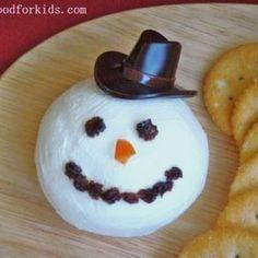 Snowman Cream Cheese Ball {Christmas Edible Crafts}