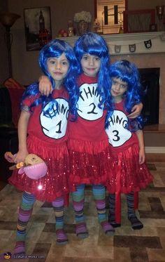 Thing 1, Thing 2, Thing 3 - DIY Halloween costumes