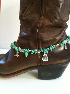 Dress up those boots! Turquoise Boot Bracelet