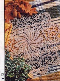 Croche maravilha de arte: grafico crochet doili, maravilha de