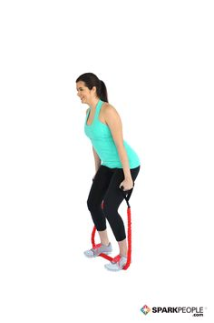 Challenge your #triceps with this killer move! All you need is a resistance band. | via @SparkPeople #fitness #workout #exercise