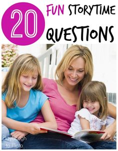 Free printable!! 20 fun reading comprehension questions for kids. {Playdough to Plato}