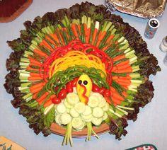 Holiday Turkey veggie platter....