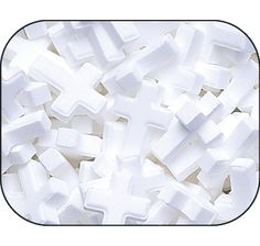White Candy Crosses: 5 lb. Bag from Candy Warehouse